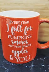 Every Year I Fall orange Mug