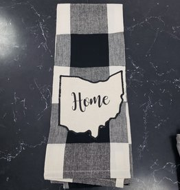 Black/White Buffalo Check  Home Ohio Towel