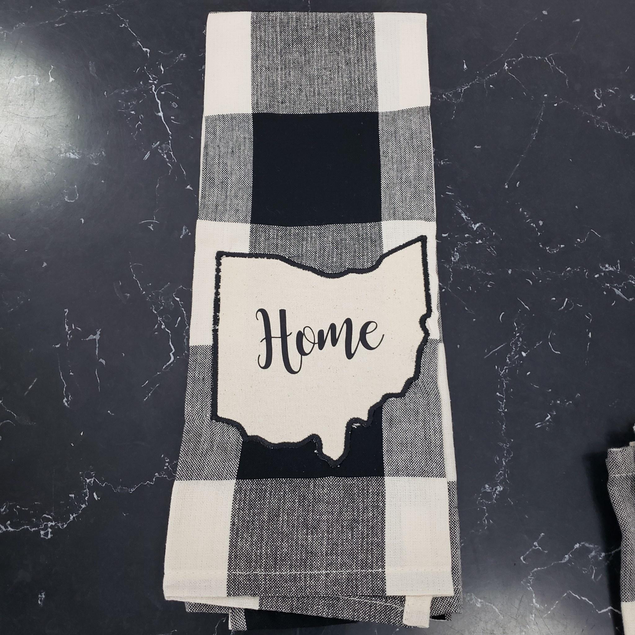 Black/White Buffalo Check  Home Ohio Towel