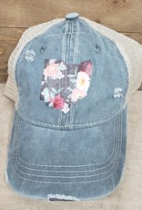 Ohio Trucker Hat Vintage Floral