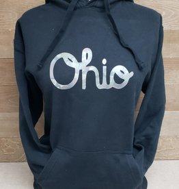 Ohio Script Camo Black Hooded Sweatshirt