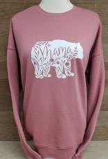 Mama Bear Sweatshirt- Mauve