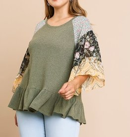KOURTNEY FLORAL PAISLEY TOP