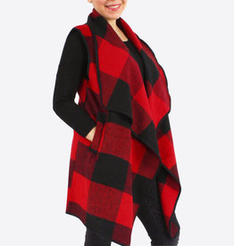 BEVERLY BUFFALO PLAID VEST