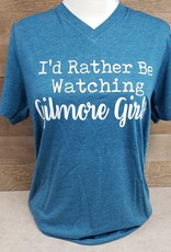 Watching Gilmore Girls V Neck T
