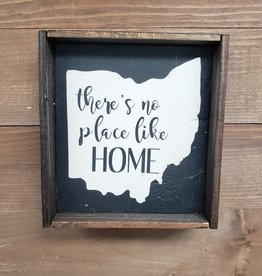 6X6 THERE'S NO PLACE LIKE HOME Ohio Framed