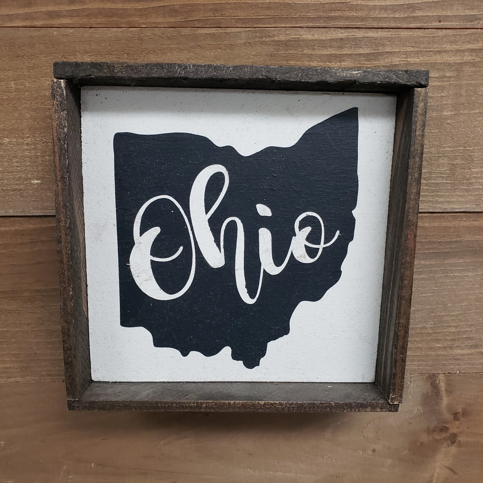 6X6 Ohio Cream/Black Framed