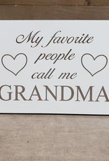 My Favorite People 6x9 White Plaque