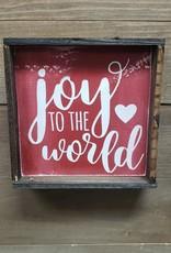 6x6 Joy to the World Framed