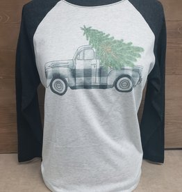 Buffalo Check Truck Baseball Tee