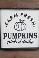 12x12 Farm Fresh Pumkins Framed