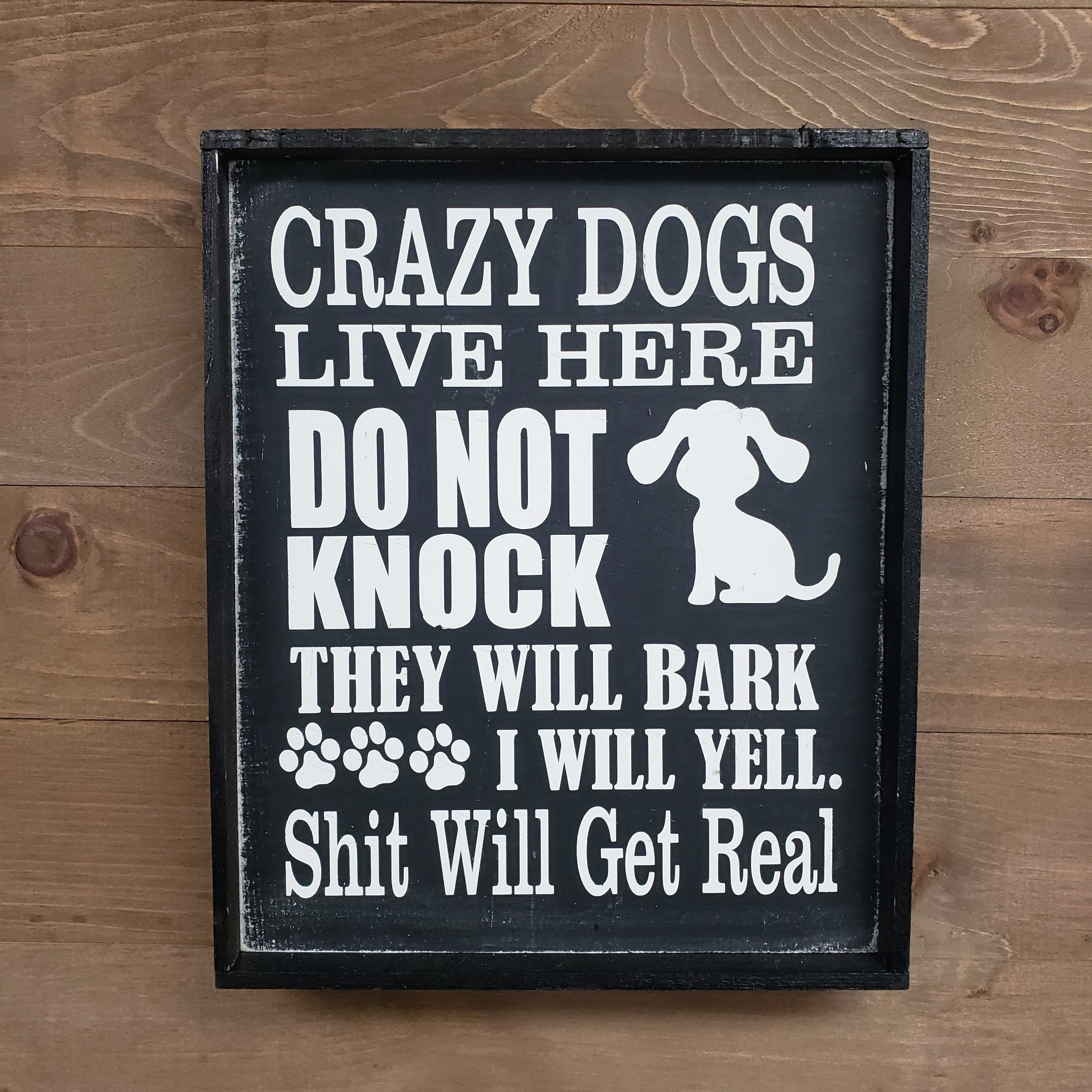 9x12 Crazy Dogs Live Here Framed