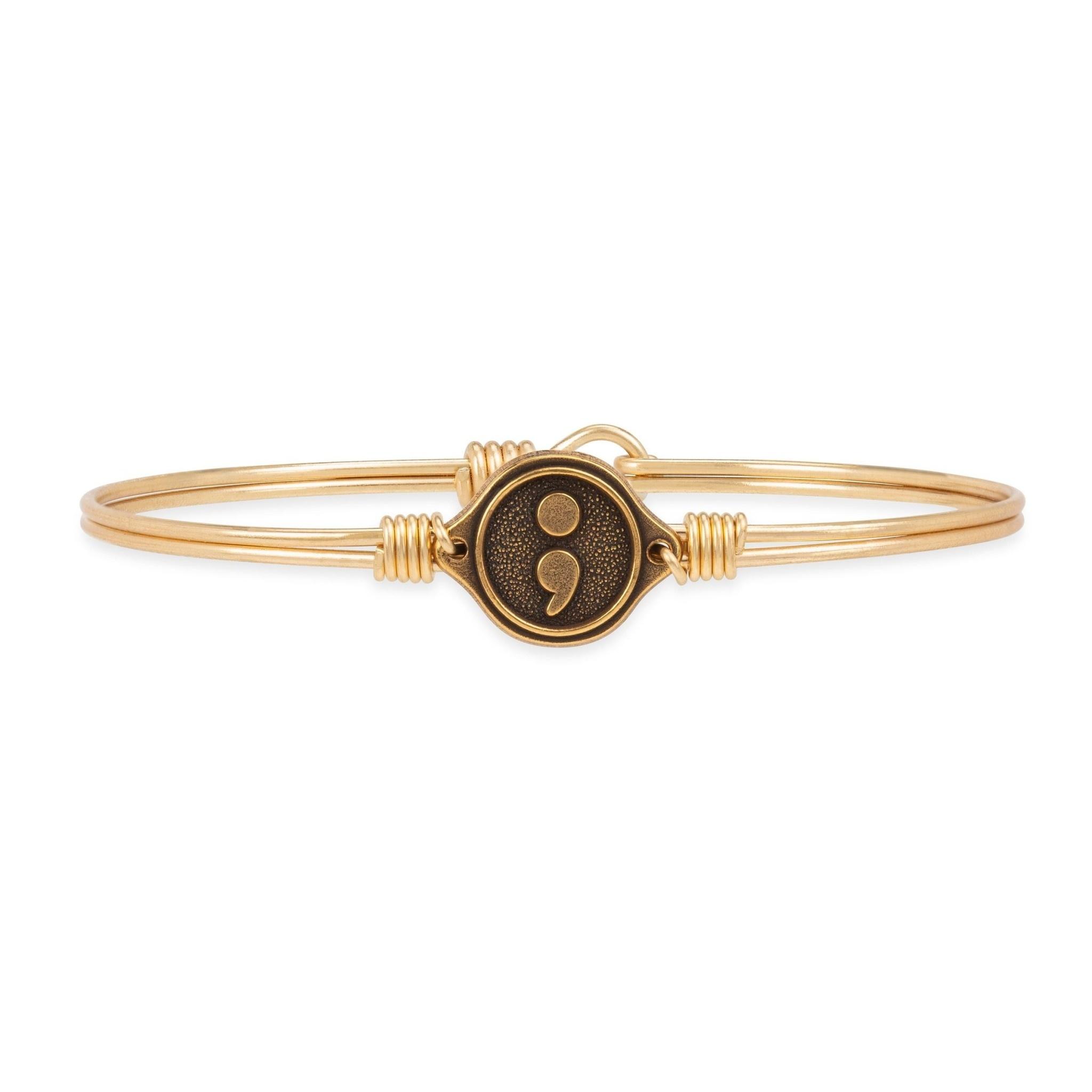 Semi Colon Bracelet Gold