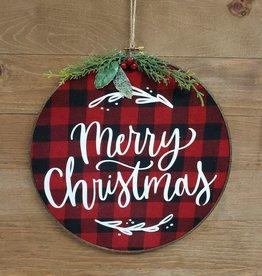Buffalo Check Merry Christmas Hoop