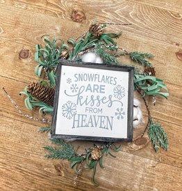 6x6 snowflake heaven framed cream