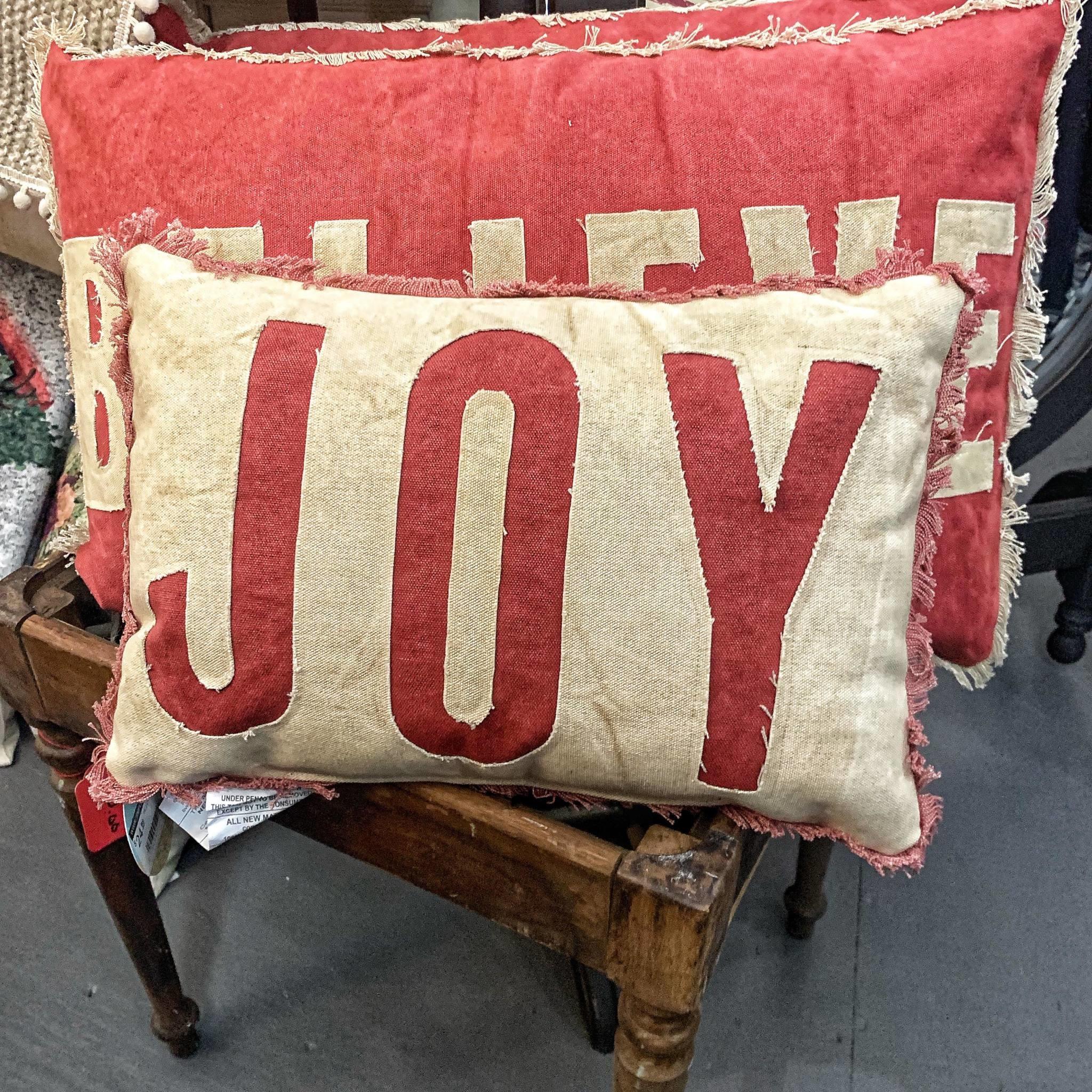 PILLOW JOY RED