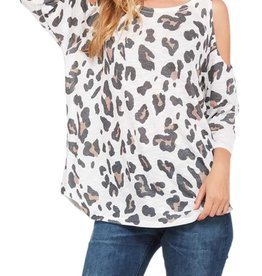 Roxy Leopard Cold Shoulder Top