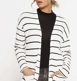 Eden Striped Thermal Knit Cardigan