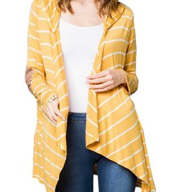 Remi Striped Hooded Cardigan