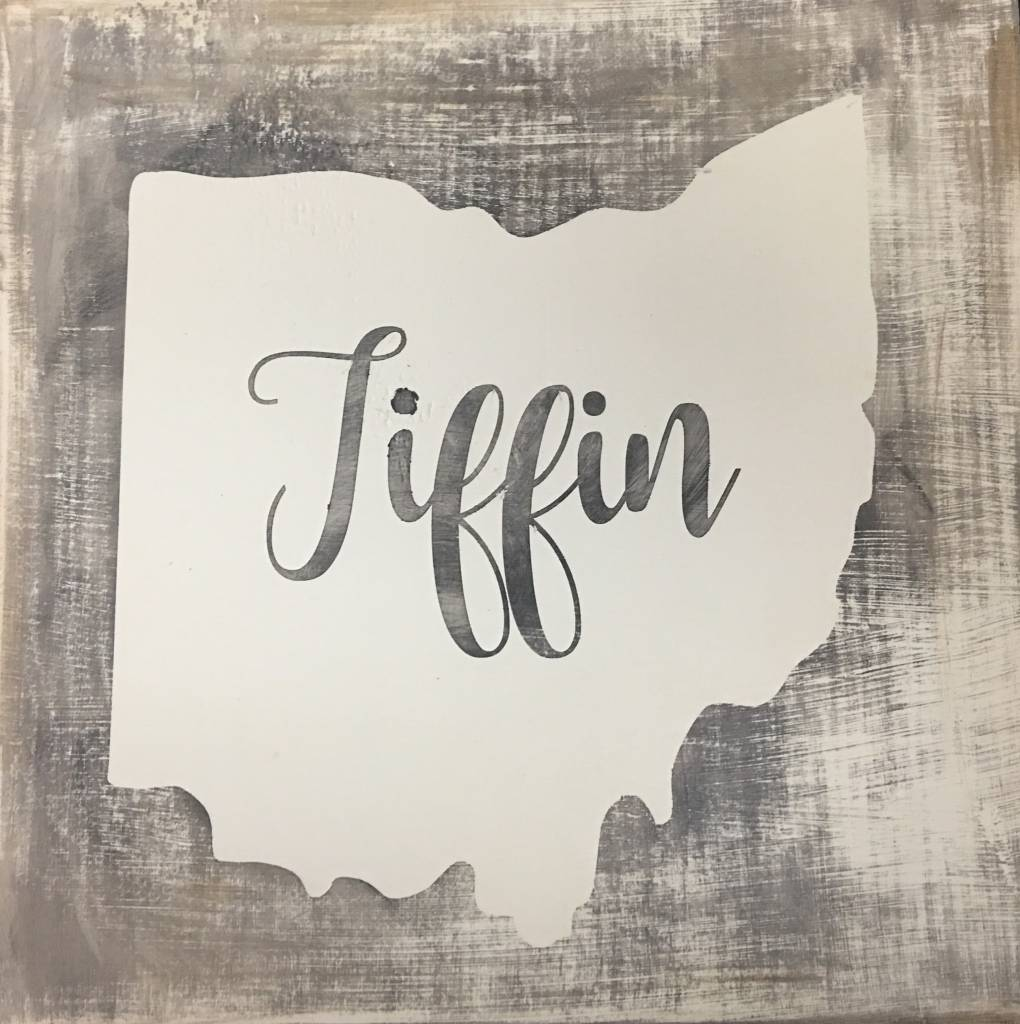 Tiffin Grey/Cream Sign 11.5x11.5