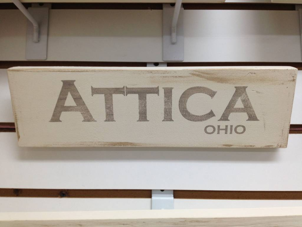 Attica 4x12 Grey/Cream Sign