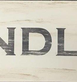 Findlay 4x12 Grey/Cream  Sign