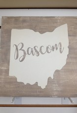 Bascom Grey/Cream 11.5x11.5 Sign