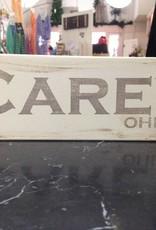 Carey 4x12  Grey/Cream Sign