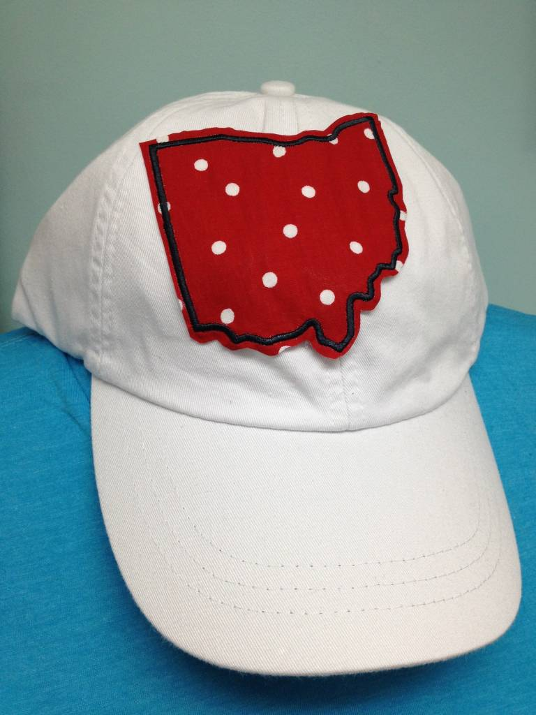 Plaid Ohio Hat Red Polka Dot