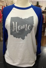 Home White w/ Royal Blue Sleeves