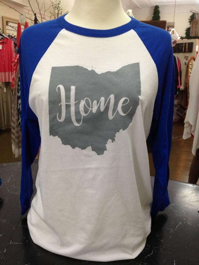 Home White w/ Royal Blue Sleeves