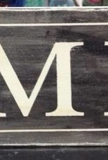 Cream/BlK Family Sign 6x24