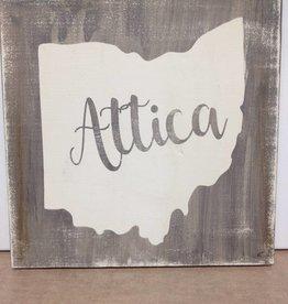 Attica 11.5x11.5  Grey/Cream Sign