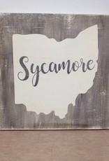 Sycamore 11.5x11.5 Grey/Cream Sign