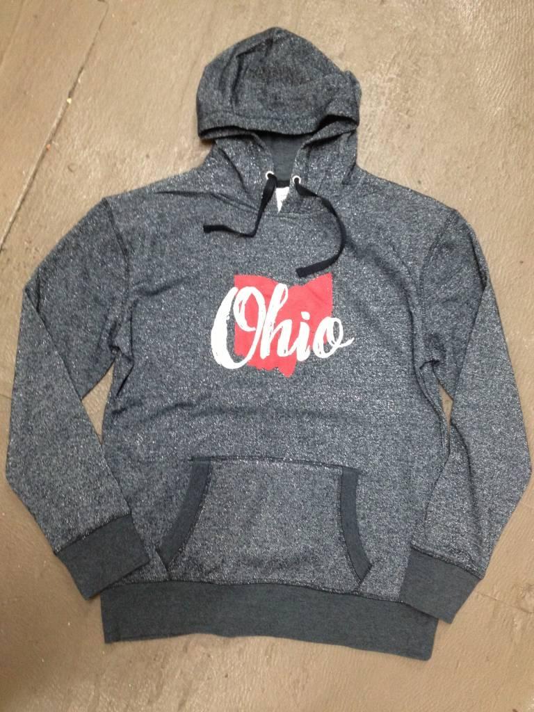 Ohio Black Glitter Hoodie