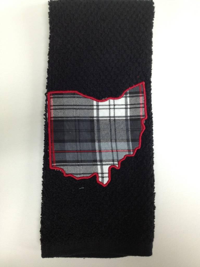 Carter Black Ohio Towel