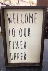 6x9 Fixer Upper Cream Sign Framed