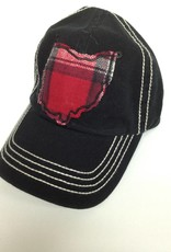 Christopher Baseball Hat Black/Cream Stitch