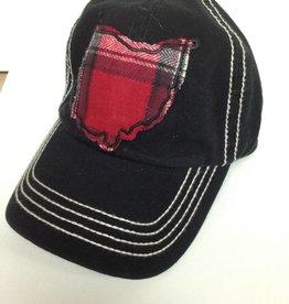 Christopher Baseball Hat Black/Cream Stitch