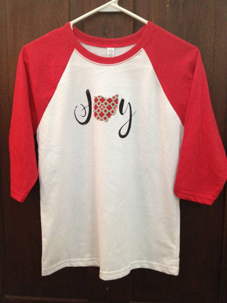 Kids Ohio Joy Snowflake Red Sleeve