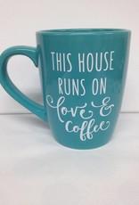 THIS HOUSE TEAL MUG