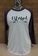 Blessed Purple Baseball T