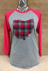 Ohio Plaid Hunter Red Sleeves