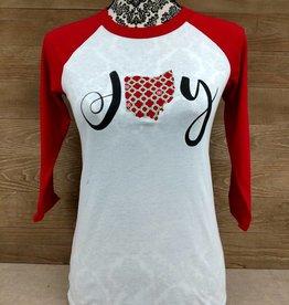 Ohio Joy Plaid Snowflake Red Sleeves