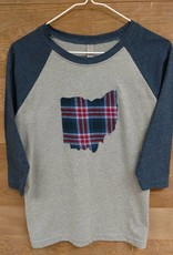 Kids Ohio Plaid Blue Sleeves