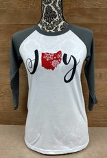 Ohio Joy Snowflake Grey Sleeves