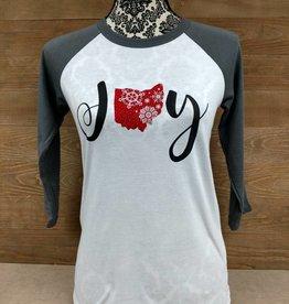 Ohio Joy Snowflake Grey Sleeves