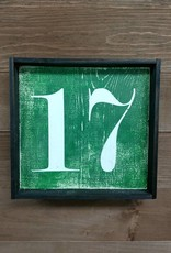 17 Green 7x7 Framed Sign