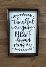 6x9 Thankful everyday framed