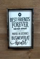 6x9 best friends Framed